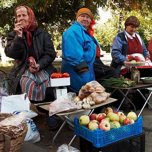 Уличная торговля в Серпухове