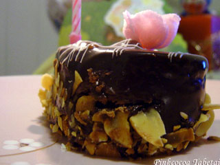 Pinkcocoa's Birthday - Temptation of Chocolate Ganache and Almond Flakes
