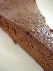 a slice of chocolate torte