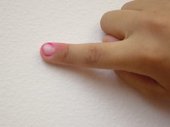 7-year old pink finger
