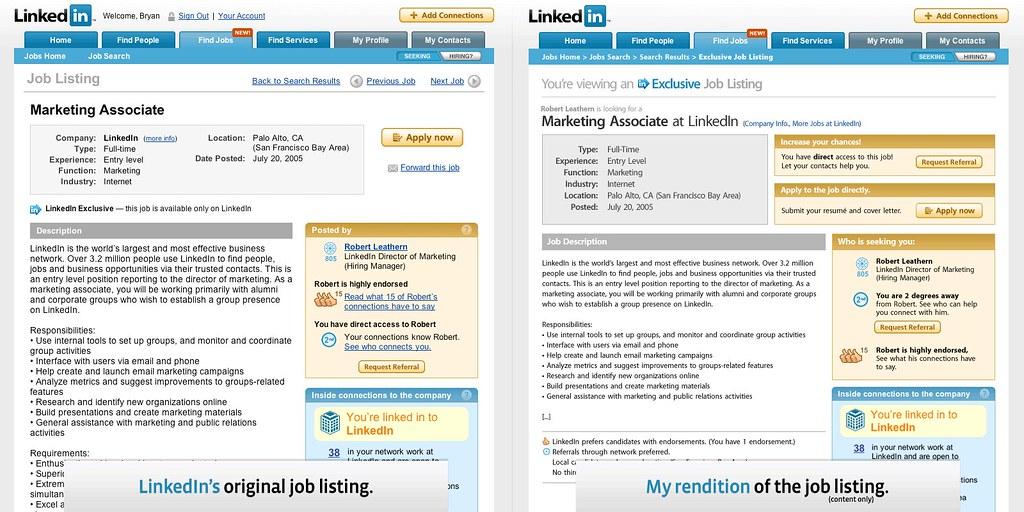 My LinkedIn Job Listing