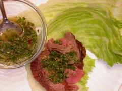 beef lettuce roll ups