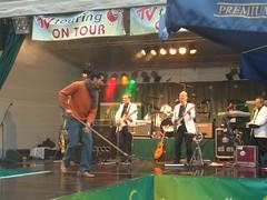 Der Wischer und die Band auf dem Stadtfest in Würzburg