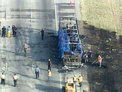 Texas Bus Fire From Hurrican Rite 09/23/05