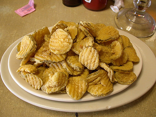 Mmmmm, deep-fried pickles ...