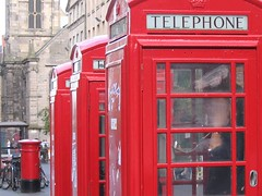 red telephone boxes