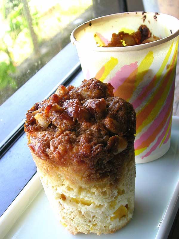 mango macadamia crunch muffins