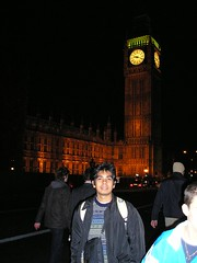 Big Ben di Waktu Malam, London, UK
