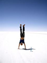 Salar Trip - 43 - Matt handstand
