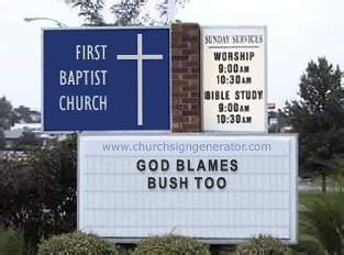 God Blames churchsign