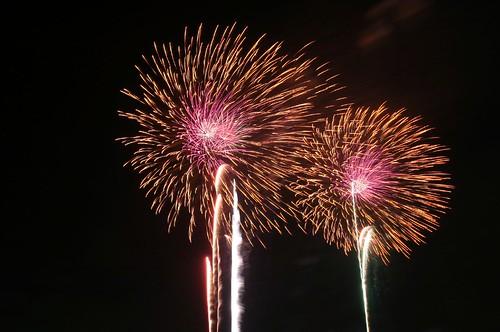 fireworks of Tsuchiura