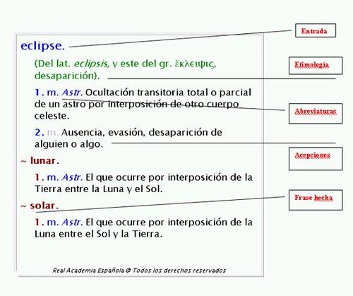 Entrada de diccionario de la RAE