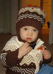 Autumn hat and sweater!