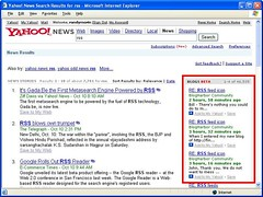 Yahoo blog search
