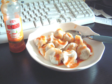 午餐吃饺子