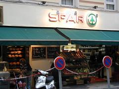 Siop Spar, Nice, Ffrainc