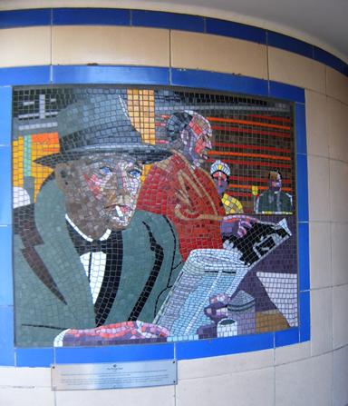 Hitchcock Leytonstone London Underground Mosaics - Henry Fonda