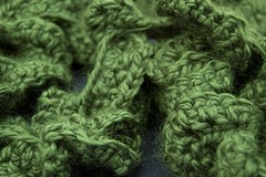 My crocheted twirly scarf