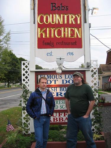 Ethan and Ian at Bob's