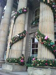 Christmas Decoration adourning The Dome on George St, Edinburgh