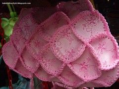handmade bags pink close up
