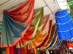 rows of saris