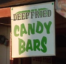 deep fried Snickers sign