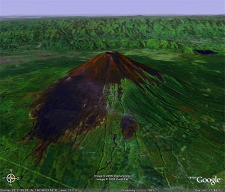 Fuji Yama par Google Earth