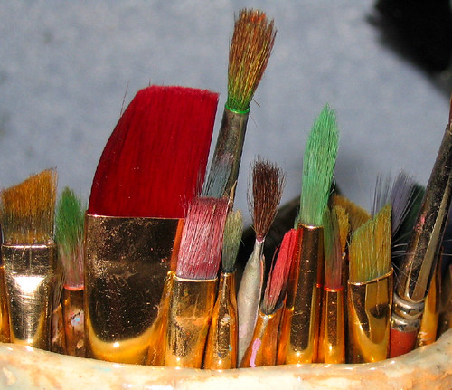 rainbow brushes