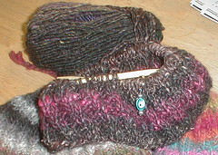 in progress, One Skein Noro hat