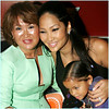 Kimora with mom and daughter