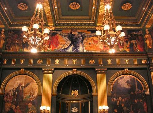 Art Murals Paint Restored Violet Oakley Murals In The Pa Capitol