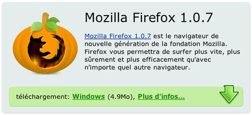 Logo Firefox découpé dans une citrouille