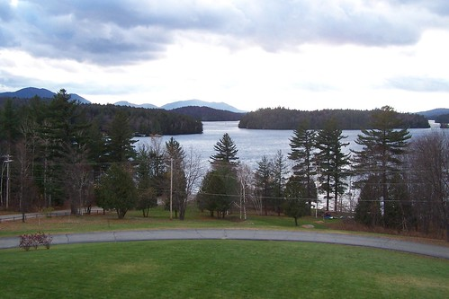 lower saranac lake november afternoon
