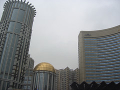 Central Hotel (L) and Howard Johnson Hotel (R), Shanghai