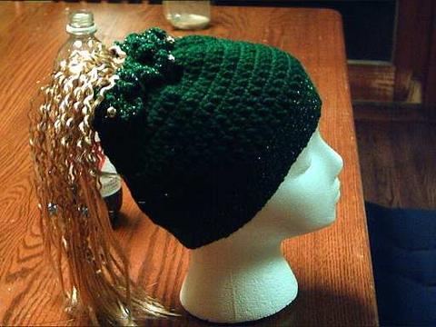Crochet Patterns Ponytail Hats : Ponytail hat
