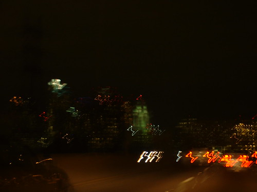 L.A skyline at night