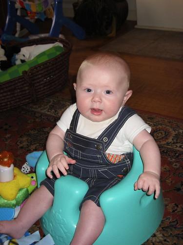 sitting up like a big boy