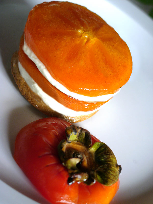 persimmon  with brown sugar meringue