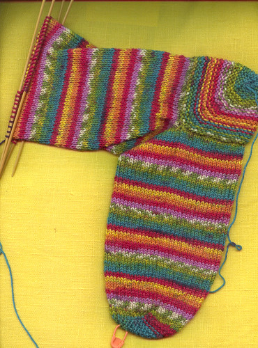 fun colorful sock
