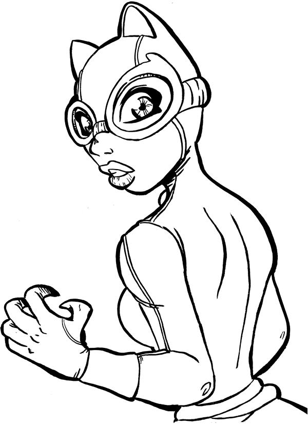 Le blog de ced comique bouc - Dessin catwoman ...
