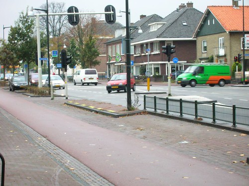 A slip lane in the Netherlands