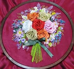 kurdele çiçek buketi