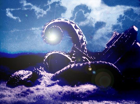 Esto no es otra cosa que un fotograma coloreado de 'It came from beneath the sea'