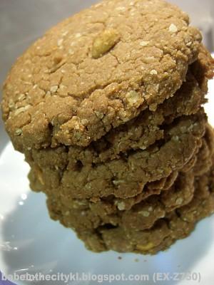 crunchy jumbo snickers cookies stack