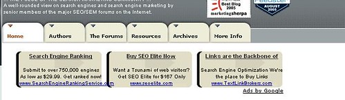 Animated Google AdSense Testing on Search Engine Blog