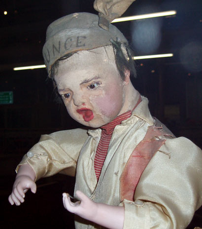 Pete Doherty doll exhibit from the Museum of Childhood.