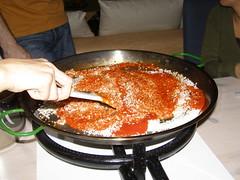 Arroz con salsa española