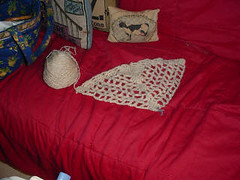 Shetland Handspun Crocheted Shawl