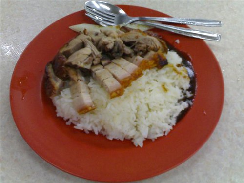 Roast Duck and Wu Xiang Roast Meat Rice - naked